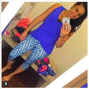 Athleta Blue PANTS (Workout ~ Yoga)/ Size Med